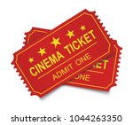 two realistic cinema tickets on ... | Shutterstock .eps vector #1044263350