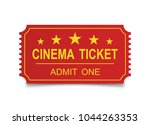 realistic cinema ticket on the... | Shutterstock .eps vector #1044263353