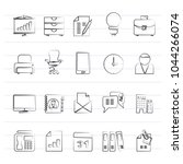 business and office icons  ... | Shutterstock .eps vector #1044266074