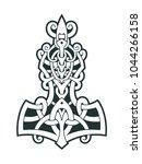 mjollnir thor's hammer is an... | Shutterstock .eps vector #1044266158