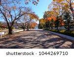 autumn season on the road in...   Shutterstock . vector #1044269710