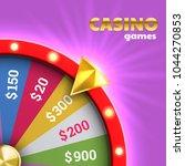 wheel of fortune roulette for...   Shutterstock .eps vector #1044270853