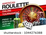 illustration online poker... | Shutterstock .eps vector #1044276388