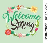 welcome spring card   Shutterstock .eps vector #1044279928
