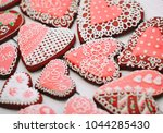 heart shaped valentines day... | Shutterstock . vector #1044285430