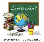 back to school. frame for your... | Shutterstock .eps vector #1044285850