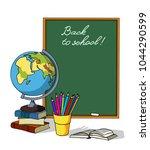 back to school. frame for your... | Shutterstock .eps vector #1044290599