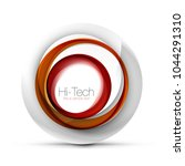 digital techno sphere web... | Shutterstock .eps vector #1044291310