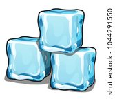 stack of ice cubes isolated on... | Shutterstock .eps vector #1044291550