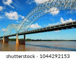 the desoto bridge spans the... | Shutterstock . vector #1044292153