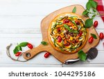 delicious summer appetizer ... | Shutterstock . vector #1044295186