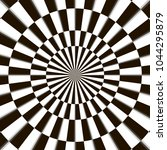 optical illusion  black and... | Shutterstock .eps vector #1044295879