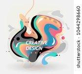 creative vector design.... | Shutterstock .eps vector #1044298660