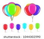 colorful balloons isolated on... | Shutterstock .eps vector #1044302590