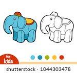 coloring book for children ... | Shutterstock .eps vector #1044303478