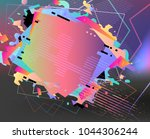 abstract vector shapes.... | Shutterstock .eps vector #1044306244
