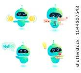 cute bot character set. chatbot ... | Shutterstock .eps vector #1044307543