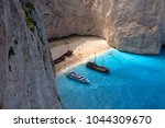 navagio   the most famous beach ... | Shutterstock . vector #1044309670