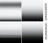 halftone dots on white...   Shutterstock .eps vector #1044310654