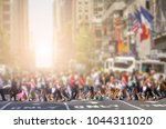 crowds of anonymous people... | Shutterstock . vector #1044311020