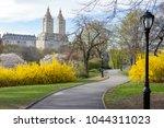 path through central park...   Shutterstock . vector #1044311023
