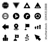 solid vector icon set   stop... | Shutterstock .eps vector #1044313888