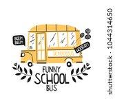 little school bus illustration... | Shutterstock .eps vector #1044314650