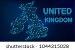 digital map of united kingdom... | Shutterstock .eps vector #1044315028