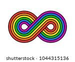 illustration of infinity... | Shutterstock .eps vector #1044315136