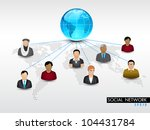 social networking 3d background ... | Shutterstock .eps vector #104431784