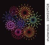 fireworks and celebration...   Shutterstock .eps vector #1044319528