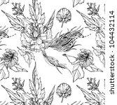 floral seamless pattern. black... | Shutterstock .eps vector #104432114