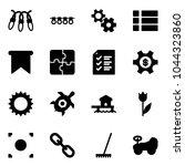 solid vector icon set   garland ...