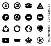 solid vector icon set   no... | Shutterstock .eps vector #1044325714