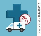 ambulance icon image | Shutterstock .eps vector #1044328318