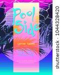 modern retro artistic flyer ... | Shutterstock .eps vector #1044328420