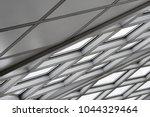 tilt bottom view of structural...   Shutterstock . vector #1044329464
