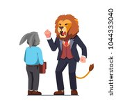 business man with lion animal... | Shutterstock .eps vector #1044333040