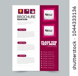 a4 size flyer template.... | Shutterstock .eps vector #1044333136