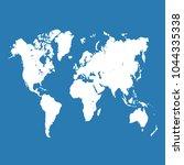 world map vector.   Shutterstock .eps vector #1044335338