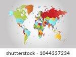 world map vector.   Shutterstock .eps vector #1044337234