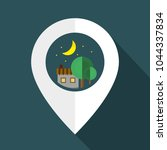 village in night   graphic for... | Shutterstock .eps vector #1044337834