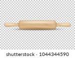 vector realistic 3d wooden... | Shutterstock .eps vector #1044344590