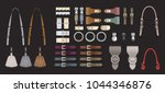 fashion accessories... | Shutterstock .eps vector #1044346876