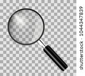 magnifying glass with isolated... | Shutterstock .eps vector #1044347839