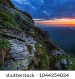 majestic dawn landscape in... | Shutterstock . vector #1044354034
