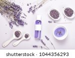 lavender body care products.... | Shutterstock . vector #1044356293