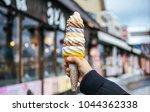 a women hand holding mixed... | Shutterstock . vector #1044362338