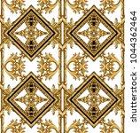 golden baroque ornament   Shutterstock . vector #1044362464