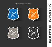 web design of service tools... | Shutterstock .eps vector #1044365440